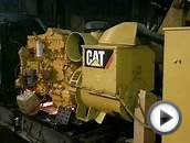 Запуск дизель-генератора Caterpillar 3406-CD400 после ремонта